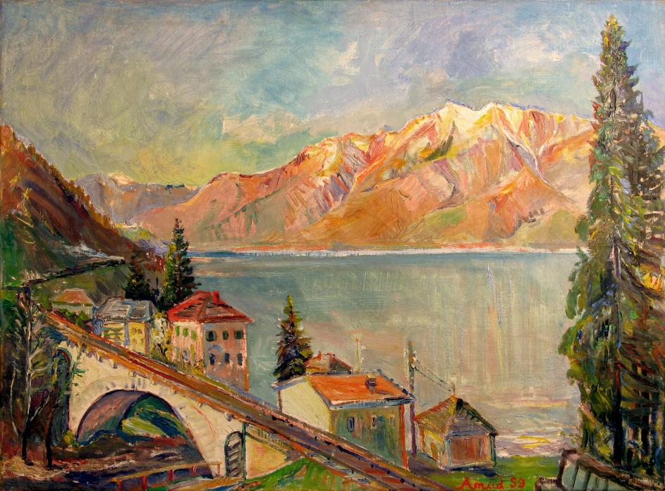 Panorama des Lago Magiore im Tessin, 1959