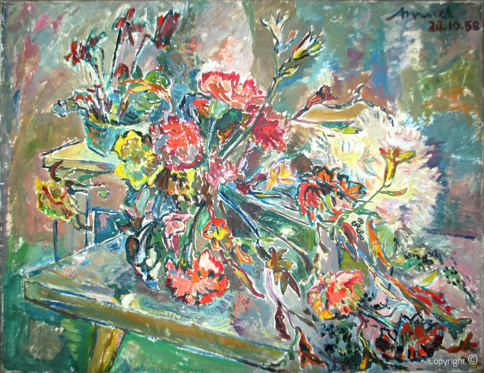 Blumenarrengement, 1958
