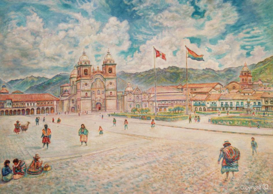 Der Hauptplatz von Cuzco in Peru