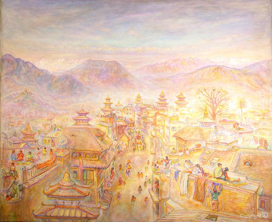 Prozession in Kathmandu, 1990