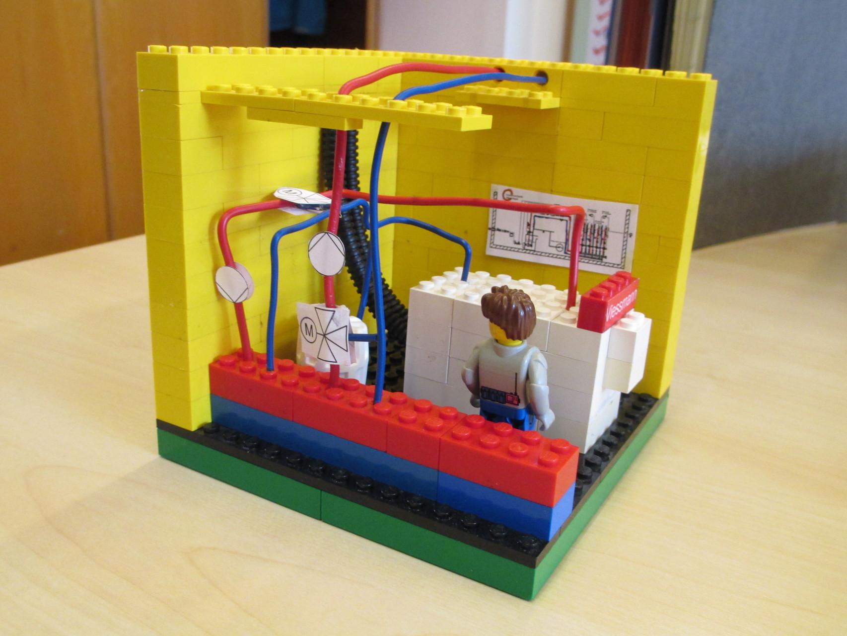 Heizzentrale - Anschauungsmodell für die Präsentation