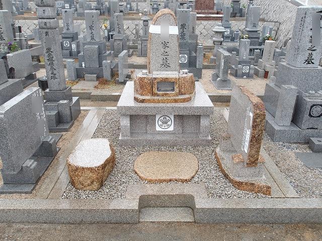 カロートの上の自然墓2021.1岡山