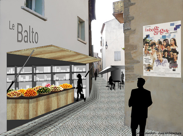 projet de redynamisation du centre historique grâce aux commerces