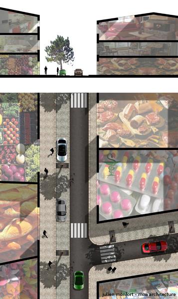 Installation de commerces de proximité et aménagement urbain: transformer une des voies en sens unique pour offrir du stationnement près des commerces