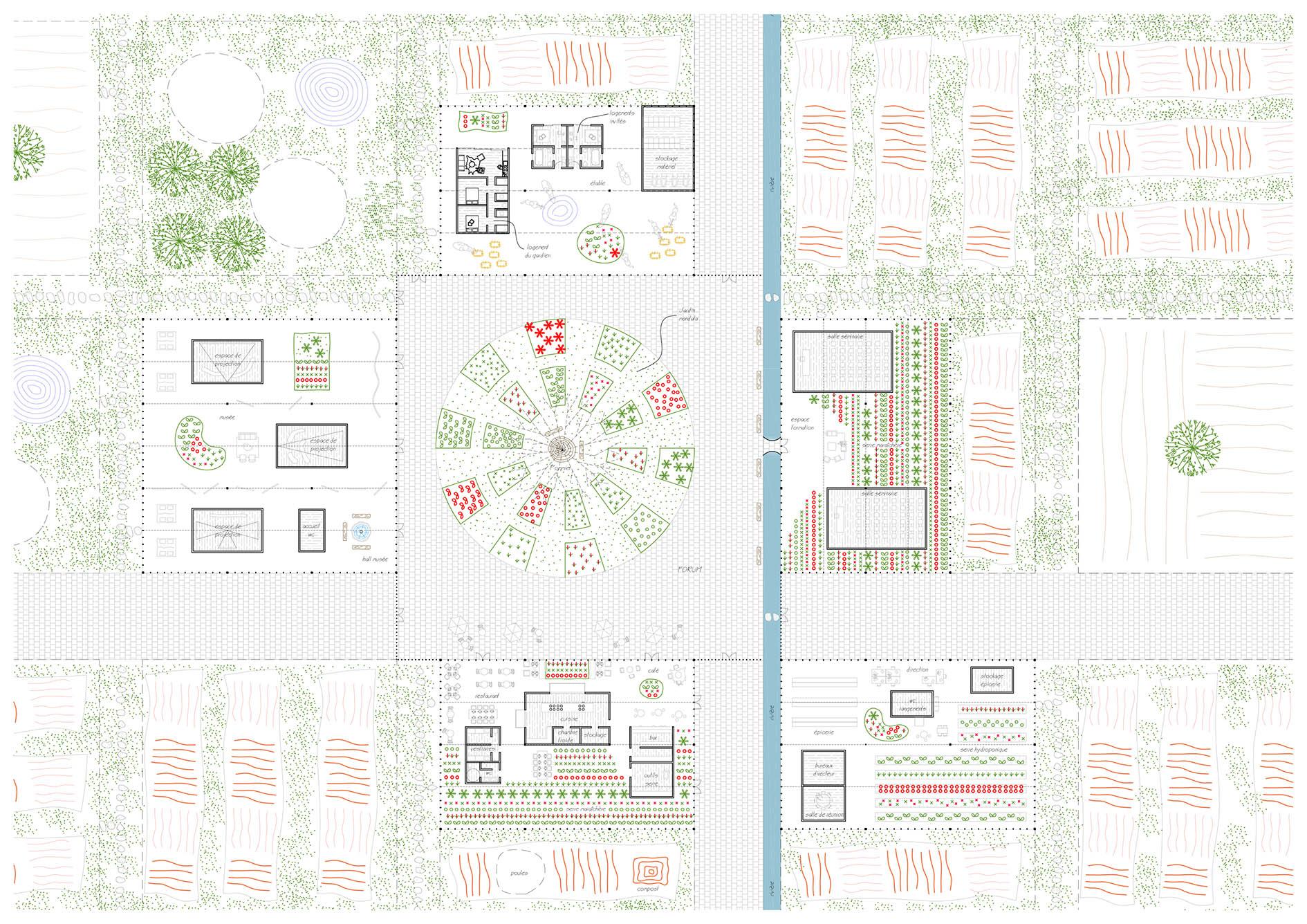 La Cité de l'agriculture - Plan de sol