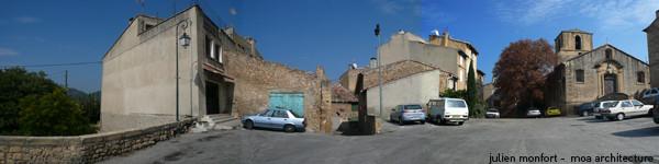 place de l'Eglise actuelle: parking sauvage