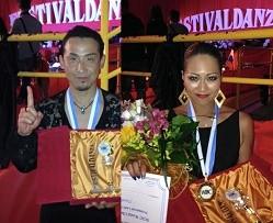 夏見 和彦 日高麻衣子組 WDC World Champ Professional Over 40 Latin イタリア優勝