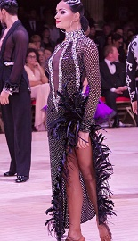 セミオーダー 社交ダンス モダンドレス 衣装