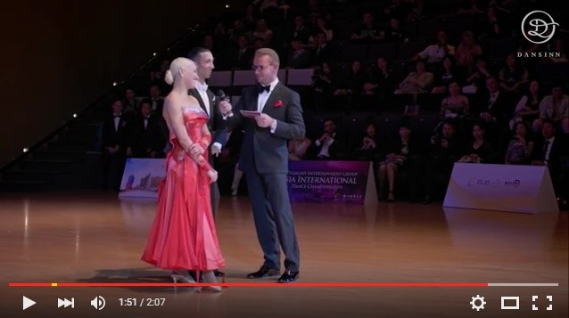 Andrea Ghigiarelli and Sara Andracchio Final Presentation Asia International Championships 2015