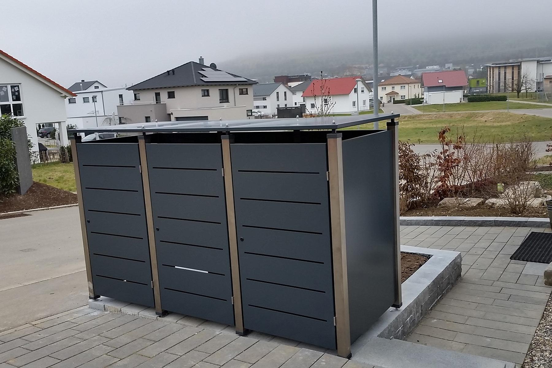 Sichtschutz Elemente Riba Mulltonnenboxen