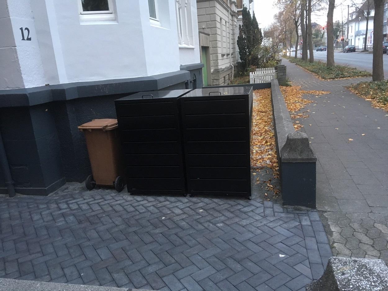 Mülltonnenbox Magnat in Schwarz