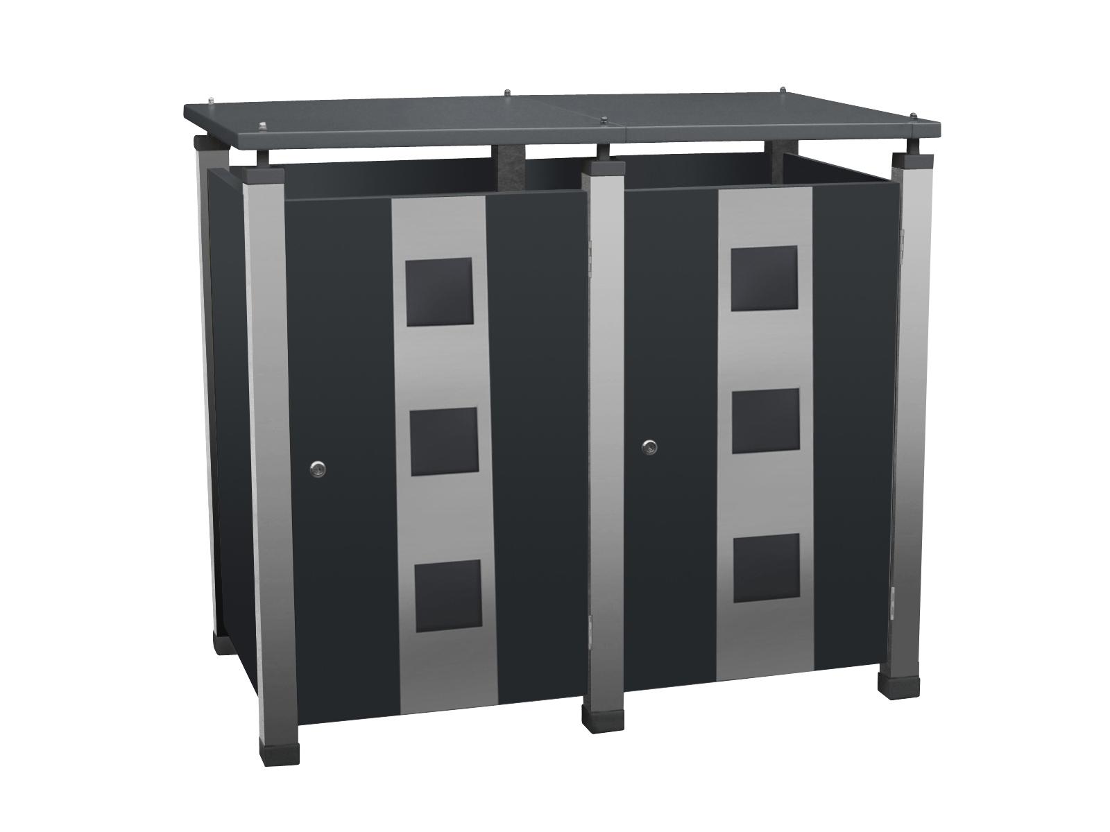 Mülltonnenbox Pacco E Quad3