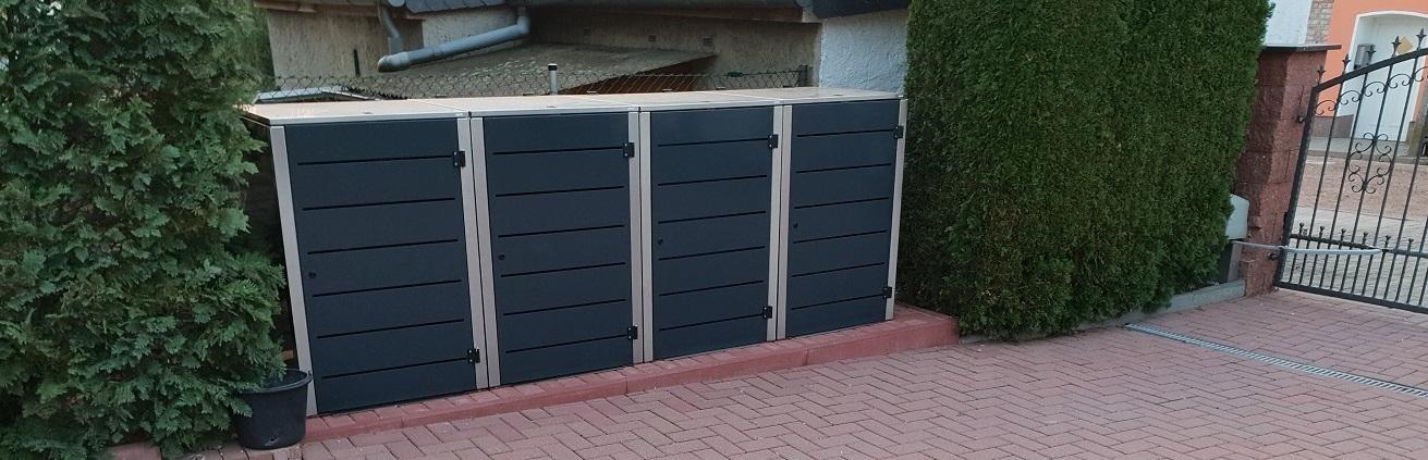 Aufbauanleitung Abfalltonnenbox und Mülleimerbox Eleganza