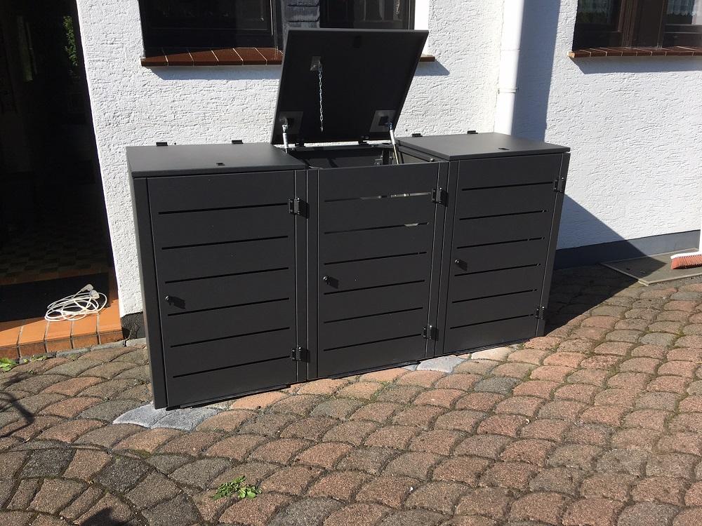 Mülltonenbox Eleganza Line im Farbton DB703 Feinstruktur