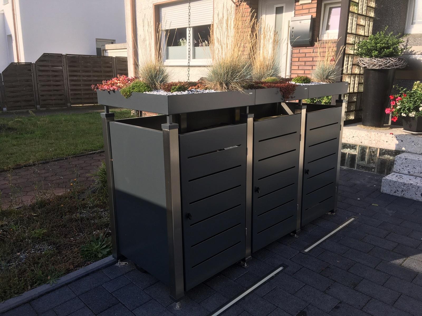 3er Mülltonnenbox