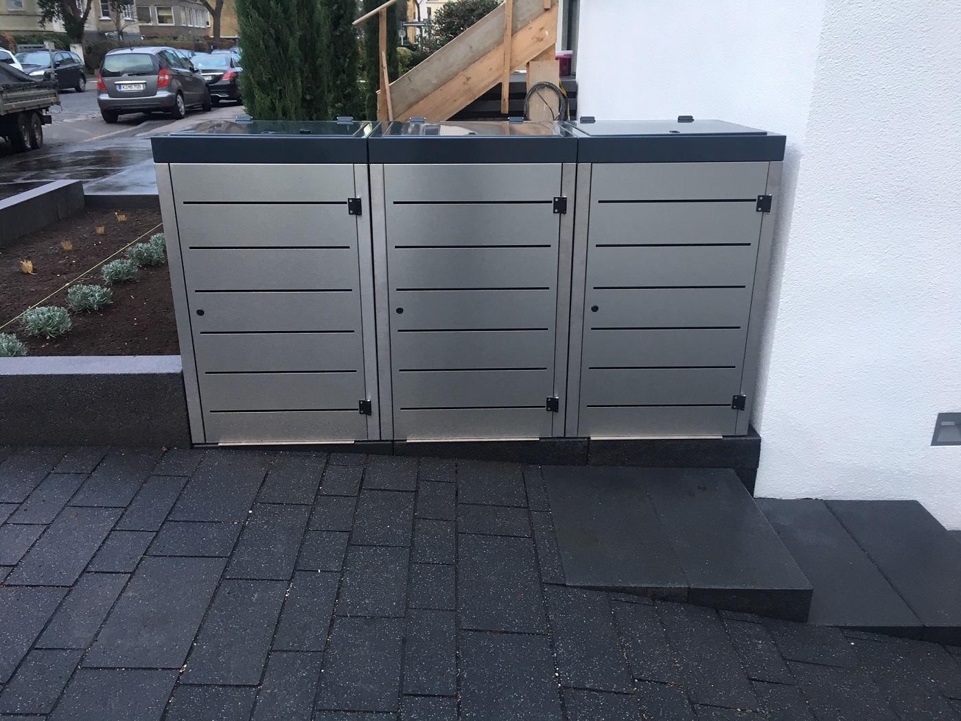 Das richtige Fundament für die Mülltonnenbox von Gero-Metall