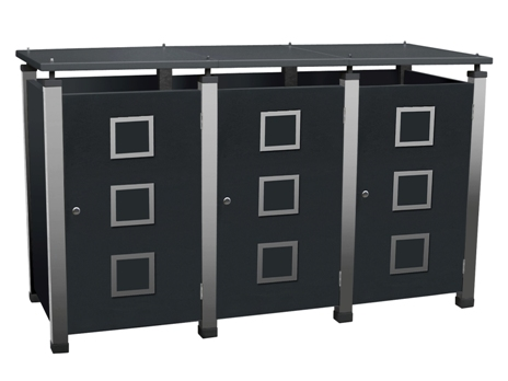 Mülltonnenbox Pacco E Quad2