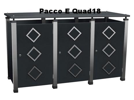 Mülltonnenboxen mit Edelstahlapplikationen auf den Türen bietet individualität.