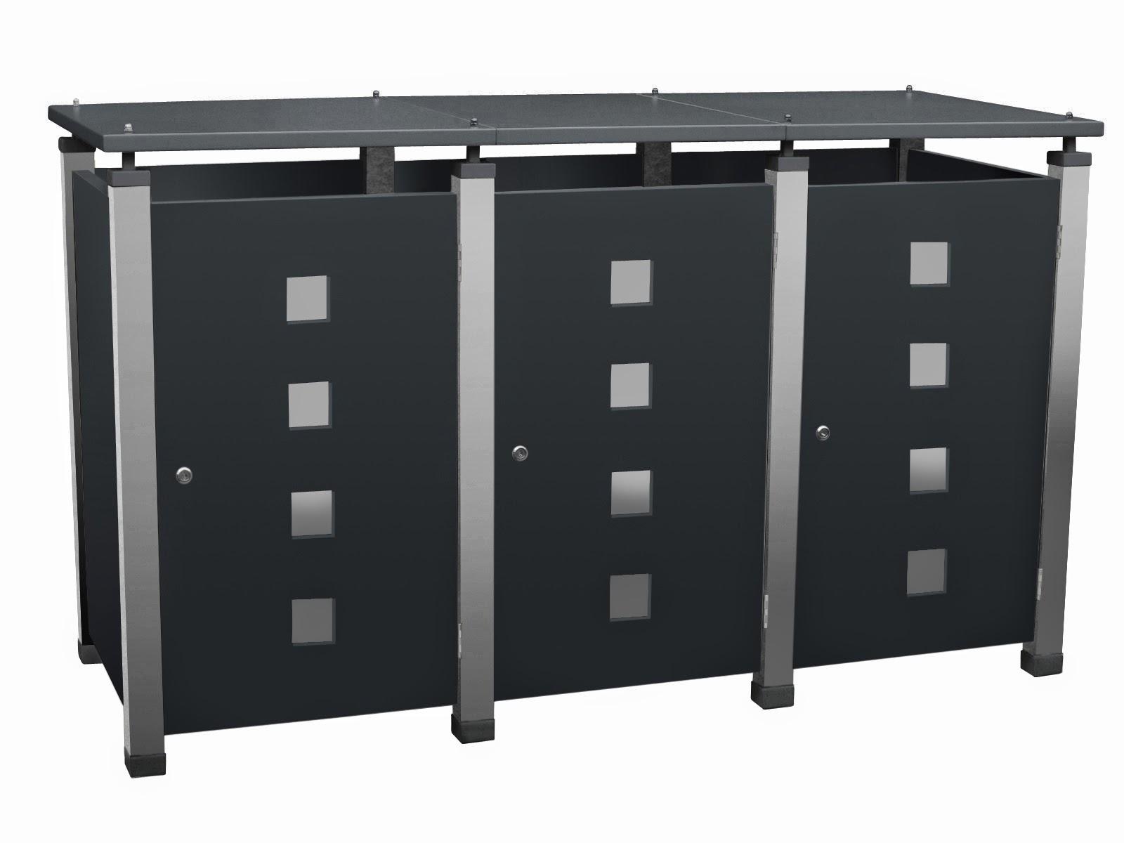 Mülltonnenbox Metall, Modell Pacco E Quad11