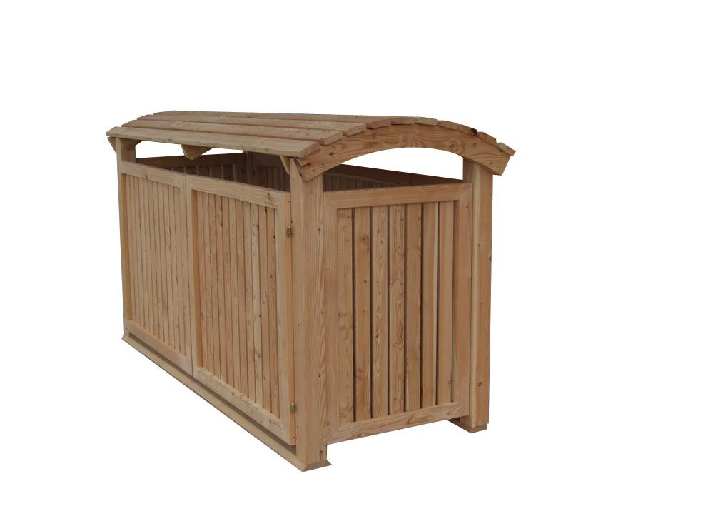 Mülltonnenbox Holz Modell Mailo