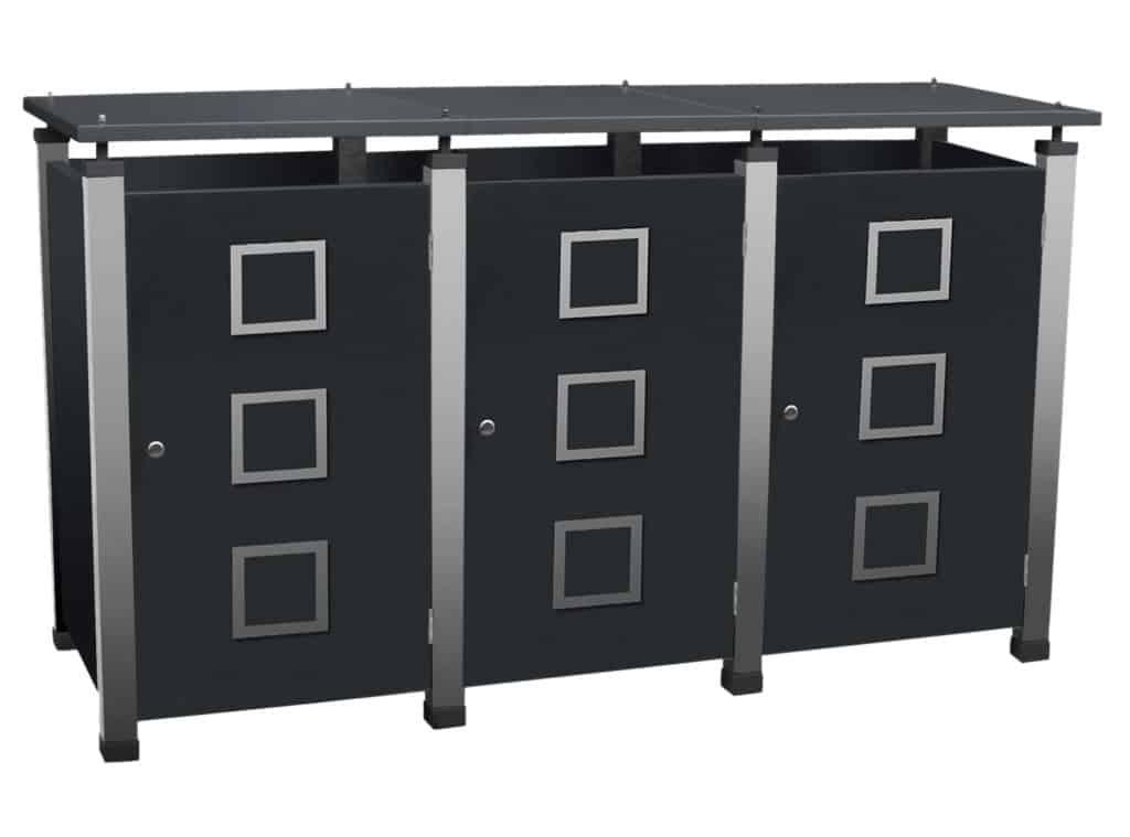 Mülltonnenbox Pacco Quad2