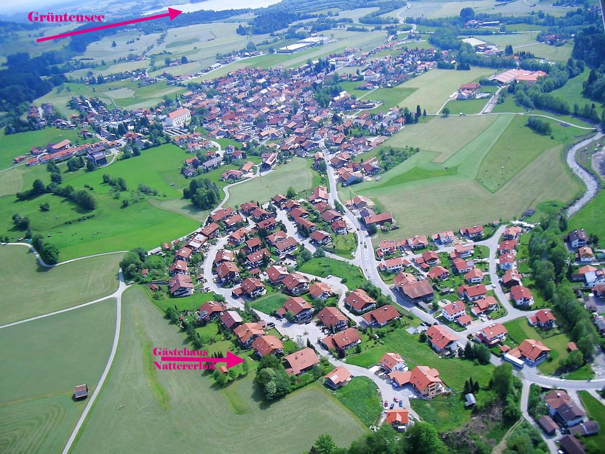 Luftaufnahme Gästehaus Nattererhof in Wertach