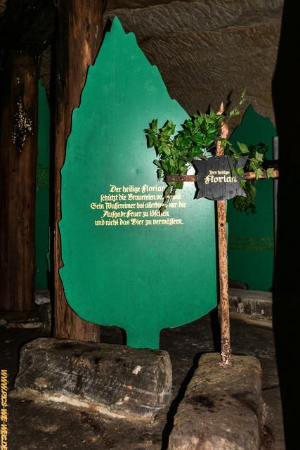 Einer der Schutzheiligen des Bieres - der heilige Florian (gilt auch für die Feuerwehr)