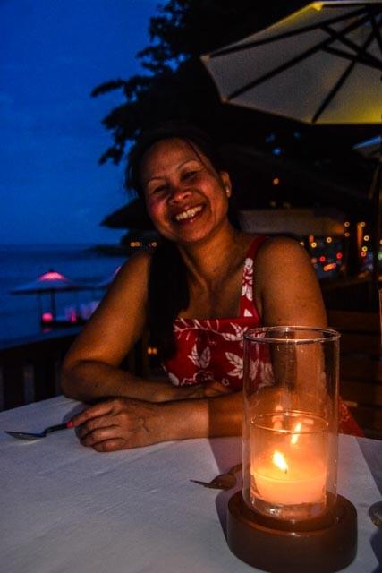 Entspannt und in Erwartung der hervorragenden thailändischen Küche - eine der besten der Welt (wie ich finde)