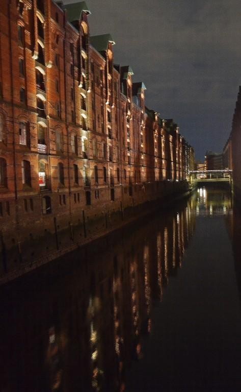 Hamburg Speicherstadt gegen 22 Uhr