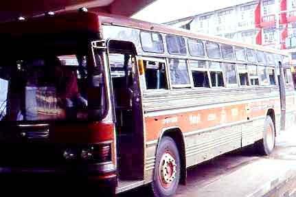Überlandbus (Holzklasse)