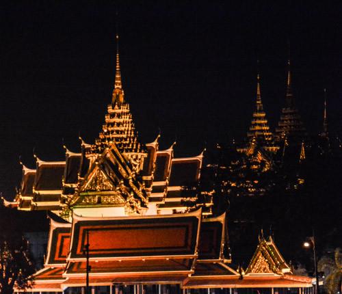 Lichterglanz, Bangkok, Fluss, Chao Phraya