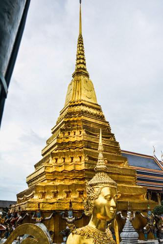 Chedi im Wat Phra Kheo Bangkok, Thailand