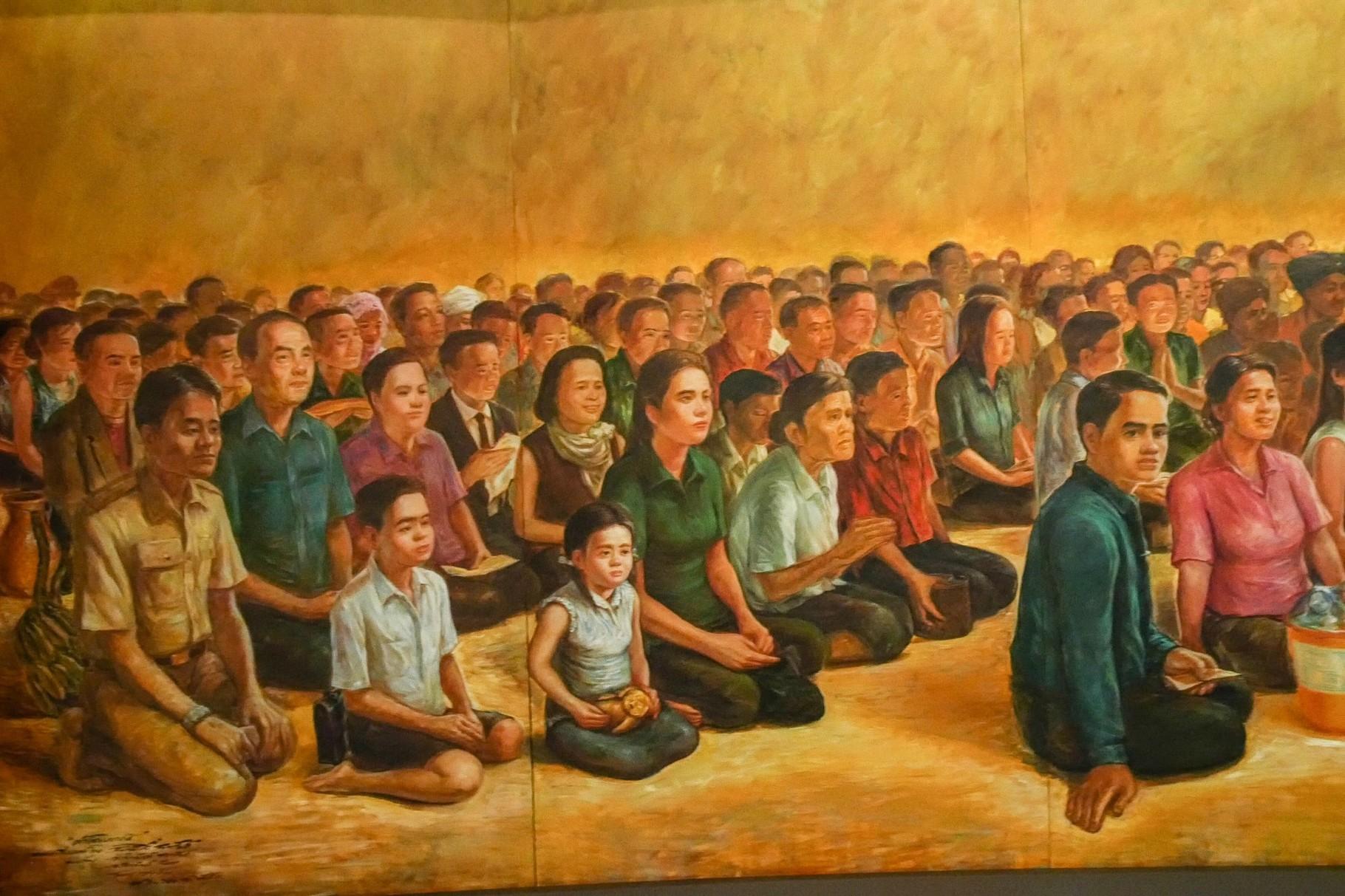 Wandmalerei in einem Kloster im Nordosten