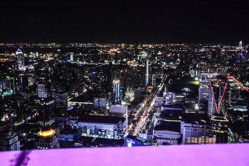 Bangkok - Aufnahme von der Aussichtsterrasse des Baiyoke Towers.