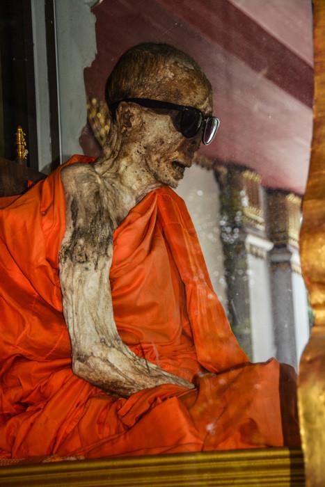 Mumifizierter Mönch im Wat Khunaram Koh Samui