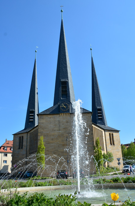Die Christuskirche am Wilhelmsplatz - Nähe Bahnhof