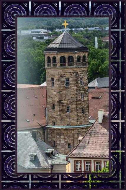 Die Schlosskirche (vom Dach des Rathauses)
