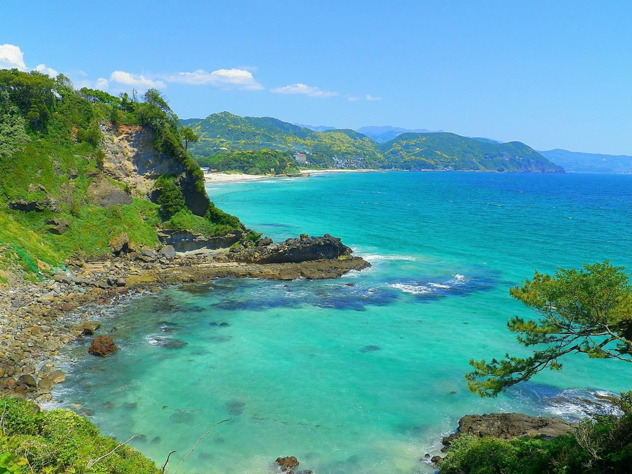 美しい伊豆の海…そして富士山 白...