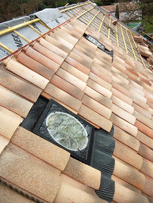 Sun Tunnel (Velux®) tubage - Vue du toit