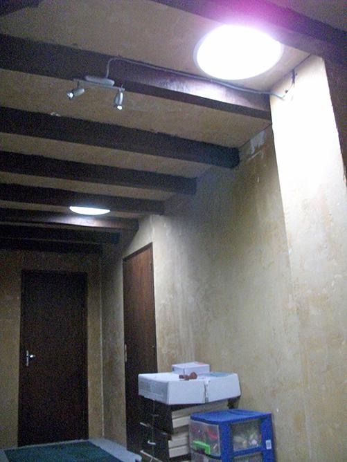 Sun Tunnel Velux®, vue couloir, après