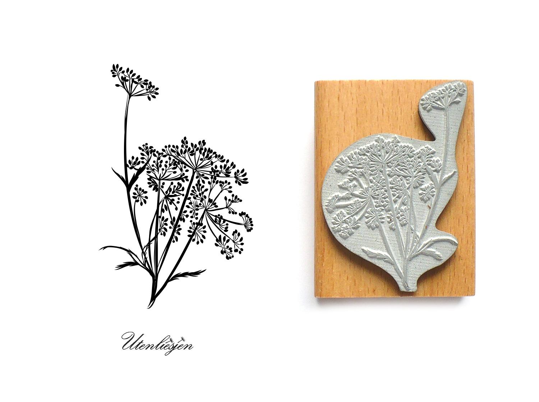 Pflanze Stempel Holzstempel Motivstempel /« BLUME 01 /» Scrapbooking