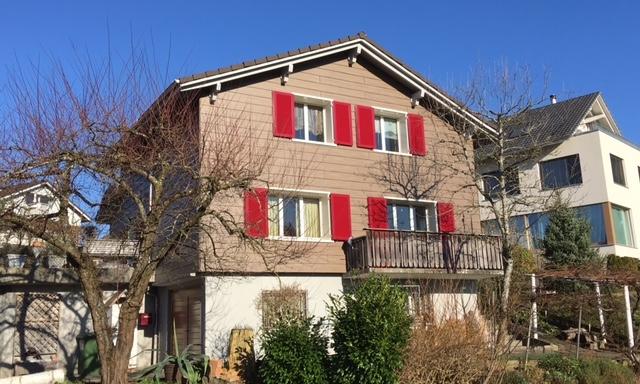 Einfamilienhaus mit Holzimitat