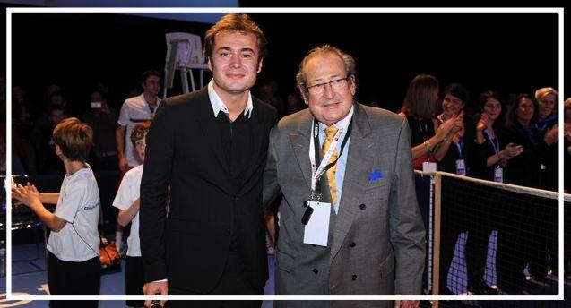 Aristide OLIVIER (à gauche) et Michel DE LONGCAMPS (à droite), co-fondateurs de l'Open de Caen.