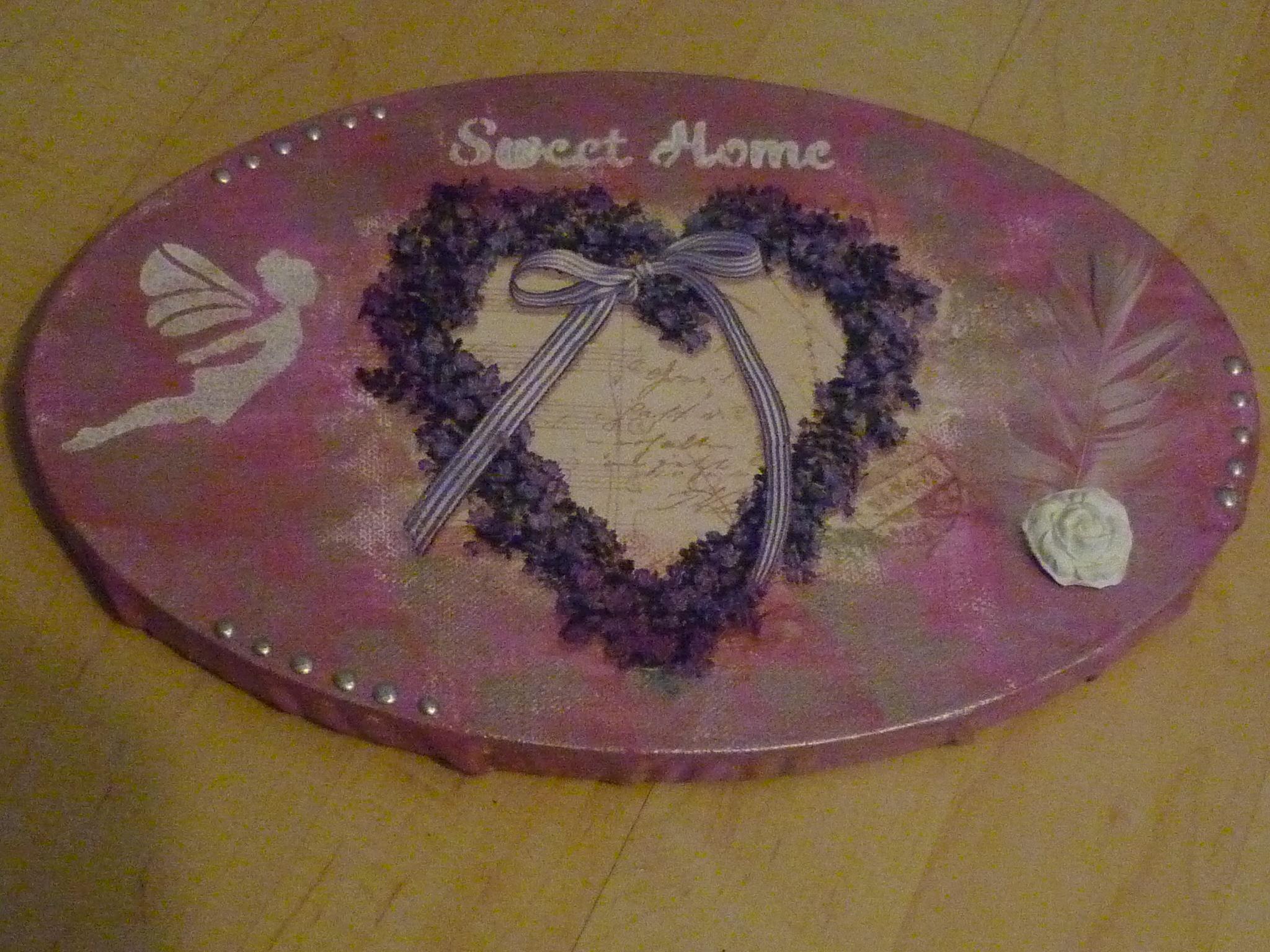 Lavendelherz oval 20 x 30 cm. ,  22.-