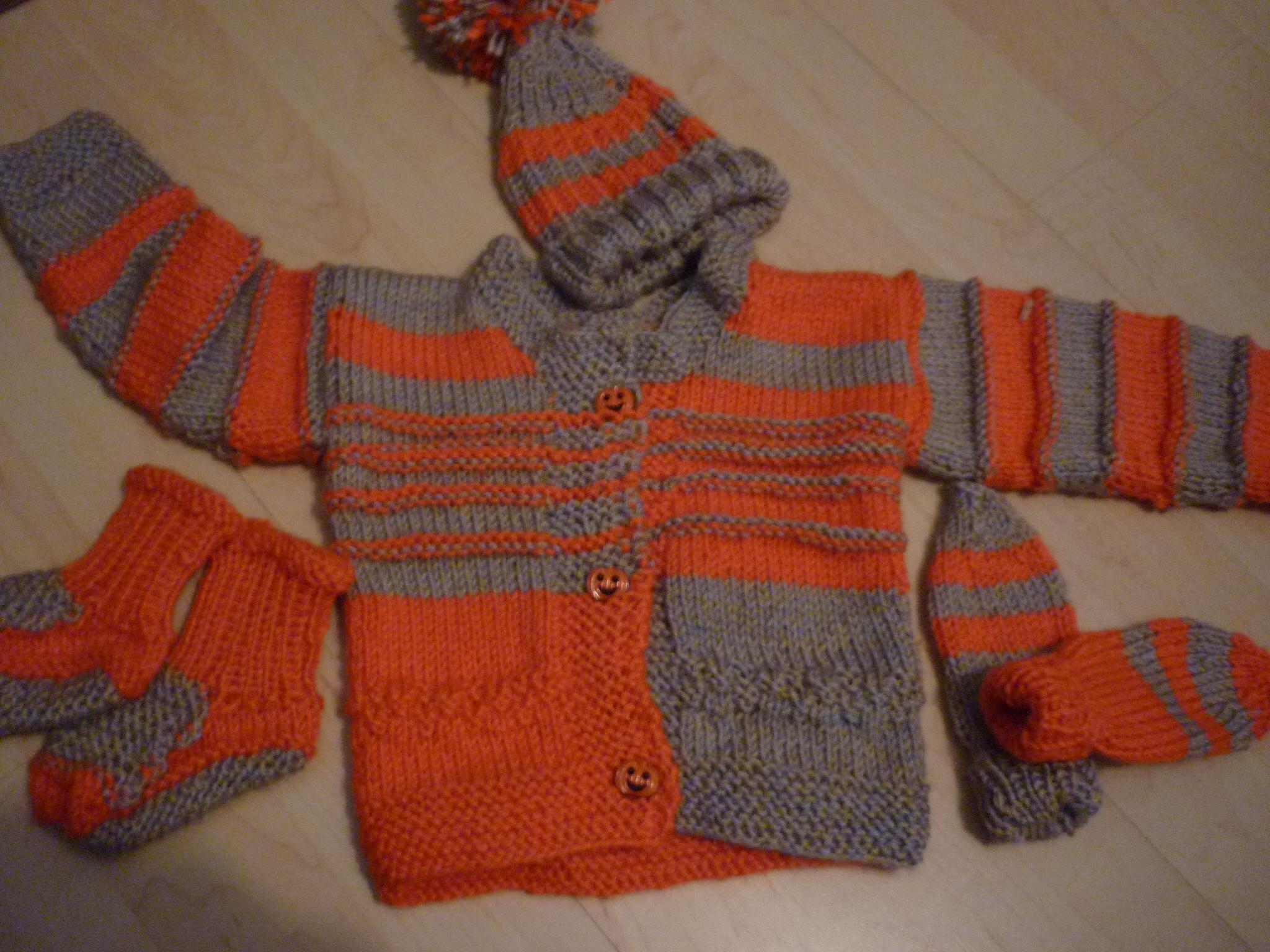 Set in orange - grau  45.-