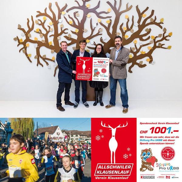 Stiftung Pro UKBB - Scheckübergabe