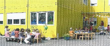 Der Container des Kindergartens