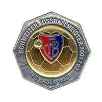 Plakette Fc Basel 1893 Meister 2001/02