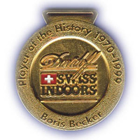 Medaille Swiss Indoors Player of the History