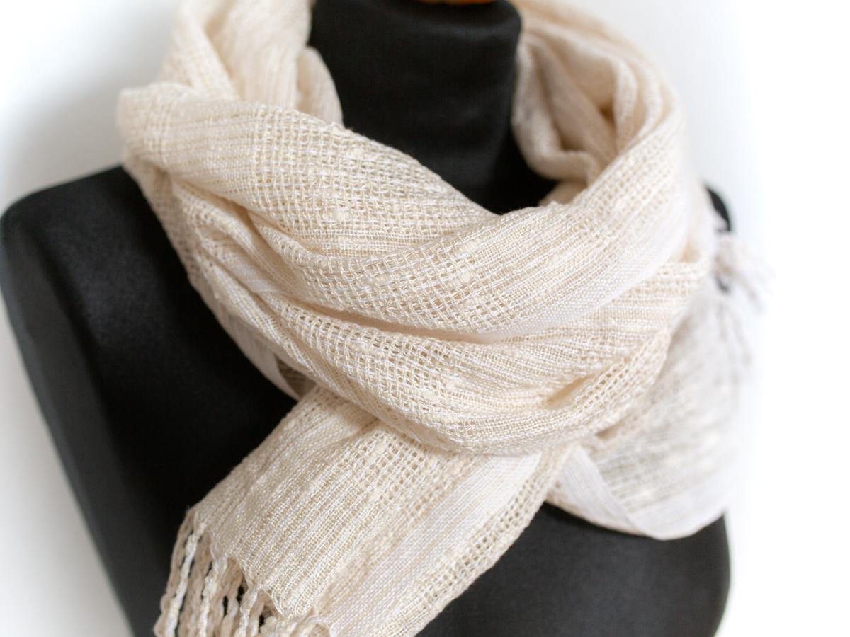eleganter Schal aus Baumwolle und Leinen